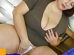 BBW bulky mature nail with young man