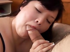 Beautiful big tits asian Plumper enjoys the taste of cum