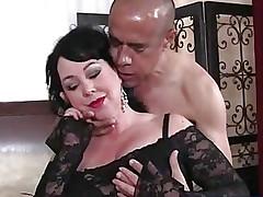Fat big tits lady Amanda blowjob and big hard-on lovemaking