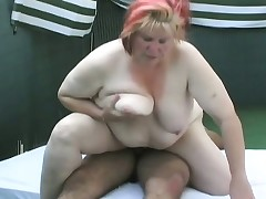 Mature monstrosity Megan Fisher gets her fat cunt toyed and fucked