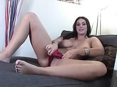 Big tittie hottie Alison Tyler is interviewed then plays